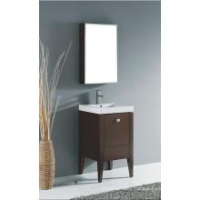 Mobilier de salle de bains en bois massif à l'américaine de style chaud avec évier