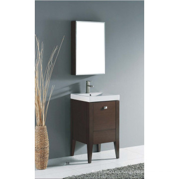 Muebles de baño de madera sólida de la venta caliente del estilo americano con el fregadero
