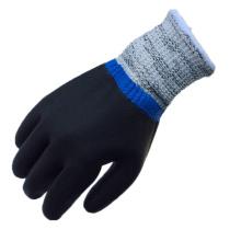 NMSAFETY nitrile entièrement trempé anti-coupe résistant aux huiles noires gants