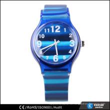 Marine blau Uhr Quarz, Streifen Uhr für Teenager