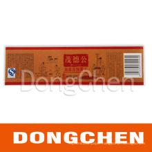 Custom Logo Food Bottle Label Printing