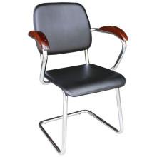 Черный PU кухонный стул