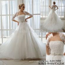 Vestido de bola del cordón pesado 2013 vestidos de boda nupciales más nuevos