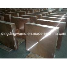 Placa de cobre tungstênio de alta resistência para encapsulamento de dissipador de calor