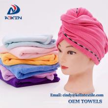 Toalha ultra-absorvente do turbante do cabelo da torção de 9.8inch x de 25.6inch Microfiber