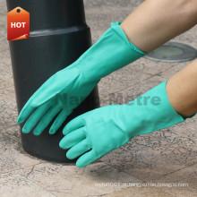 NMSAFETY EN388 EN374 luvas de mão nitrílica verde