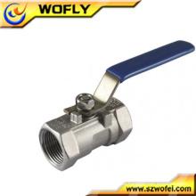 Válvula de bola de alta presión de acero inoxidable con mango manual