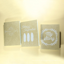 Eco recicl o caderno espiral com papel amarelo, papel por atacado do caderno do estudante