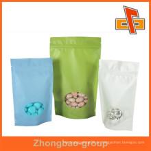 Lebensmittelverpackung Porzellan Lieferanten Reispapier stehen auf getrocknete Lebensmittel Verpackung Tasche mit Fenster und Reißverschluss