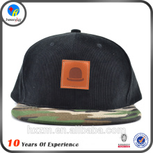2016 fashion corduroy snapback cap with leather patch