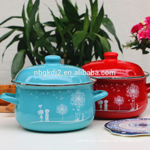 stainless steel rim hot enamel pot new product enamelware colorful cooking pot