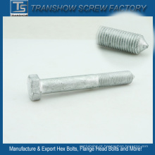 M10X120mm Silver Galvanized Hexagon Bolt