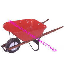 100L tray wooden handle wheelbarrow