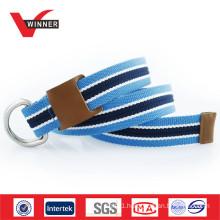 Casual durable webbing D rings men running belt