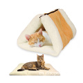 Portable 2 en 1 Snooze Tunnel Cat Mat