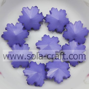 Wedding Tree Ornaments Large 14MM Purple Sparkle Crystal Snowflake Beads Wholesale
