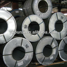 Galvanized colored steel sheet coils