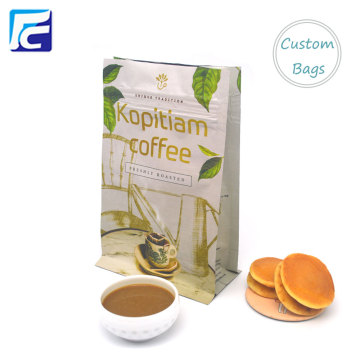 Aluminum Foil Gusset Flat Bottom Coffee Bags