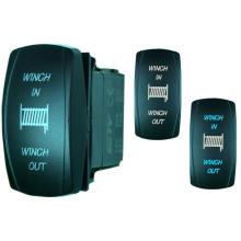20A 12V Car Marine Dual LED Lights Lasered Rocker Switch/Momentary Rocker Switch