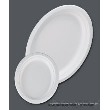"Vajilla de caña de azúcar / 12.6 ""placa oval (placa de bagazo)"