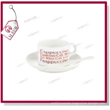 4oz Blank Sublimation Coffee Mug with Saucer and Spoon