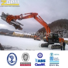 Excavator hydraulic round timber grab