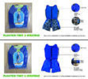 Custom Blue Cheap Kids Swim Float Suit Swimwear With Floatation Life Vest For Toddlers Xs