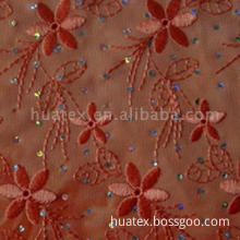 Spray Printed Chiffon With Embroidery And Spangle