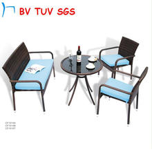 2016 Black Color Garden Furniture of Sectional Sofa (CF649)