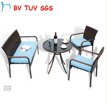 2016 Black Color Garden Furniture of Sectional Sofa (CF649)