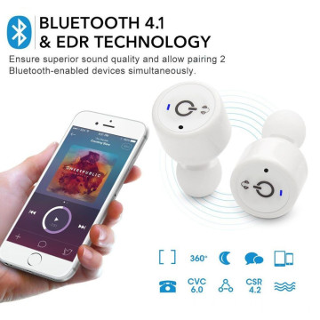 Twins Wireless Bluetooth Earphones For Iphone