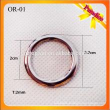 OR01Top qualidade cinza cor metal O anel fivela para vestuário 2cm