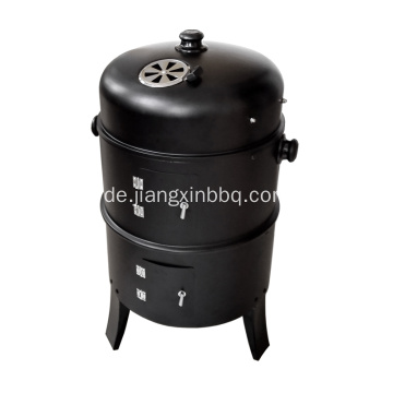 Tragbarer 3 in 1 Charcoal Smoker BBQ Grill
