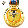 Custom zinc alloy superman logo metal sports medals with ribbon