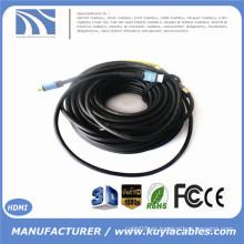 Cable Long Ultra HDMI de KuYia con el repetidor Construido en 2.0VM / M Apoyo 4k * 2k 2016P 10m 15m 20m 30m 40m 50m