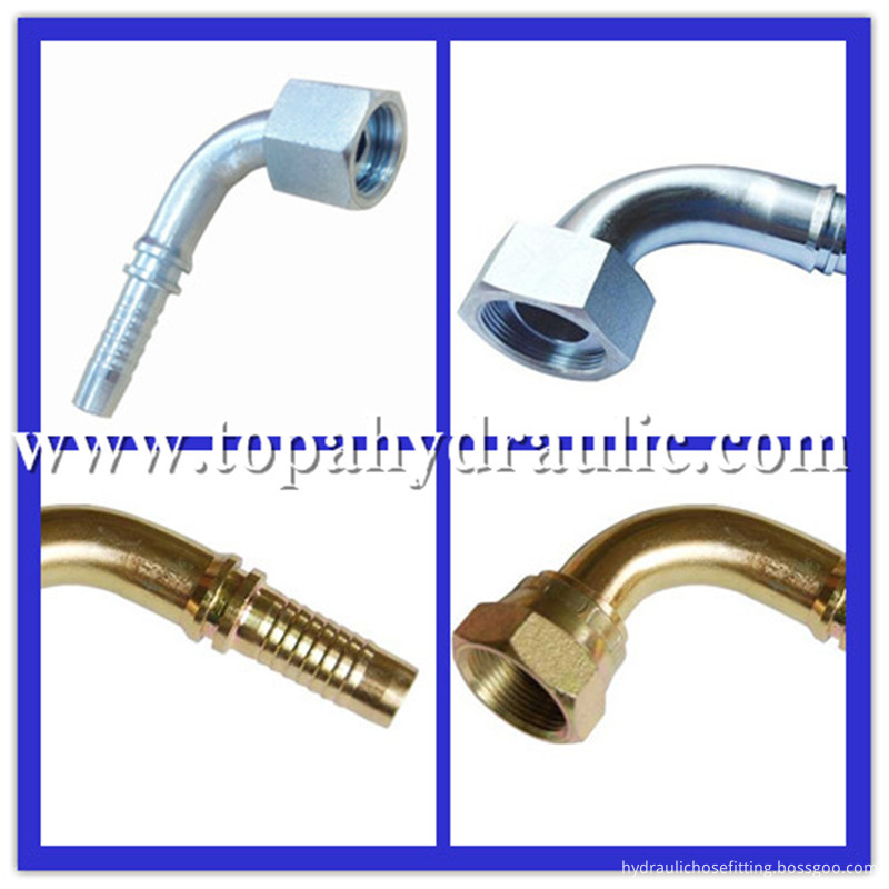 Parker carbon steel tractor hydraulic fittings