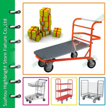 Commercial platform big load transport trolley