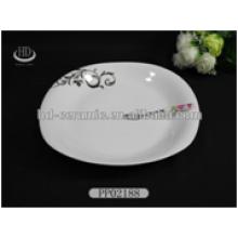 popular ceramic snack dish,ceramic dish with printing,ceramic dish with design