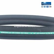 Flexibler Hydraulikschlauch mit SAE-Standard DIN 856 4SH / 4SP hochdehnbaren Textilschnüren