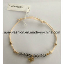 Fashion Ladies Woven Bracelet with a Butterfly