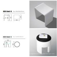 Solid Surface Corner-Mount Shower Seat