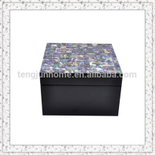 Paua Shell Storage Box with Black Paint Small size
