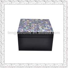 Mãe de pérola shell caixa de jóias caixa de embalagem colar de colar e anel