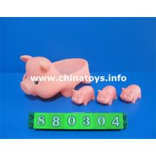 Animal de borracha macia brinquedo brinquedo de banho de porco (880304)