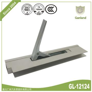 Cerradura de lateral abatible vertical en perfil de aluminio anodizado