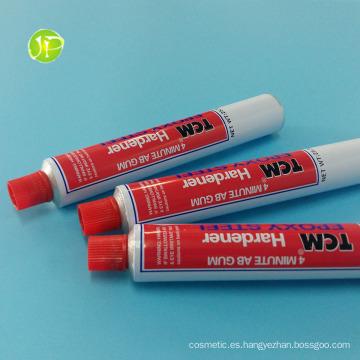 Pegamento de tubos de aluminio tubos tubos plegables Ab goma