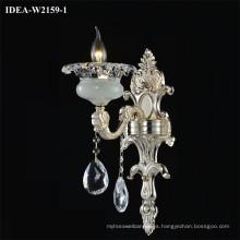 lámpara de araña de vidrio con luz de pared moderna