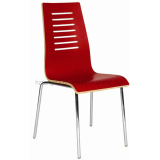 Laminiated Dining Chair in Red (TDC-151)