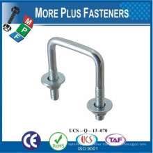 Made in Taiwan Square U Bolt Square Bend U Bolt Zinc Plated Square Bend U Bolt