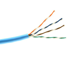 Câble de réseau Ethernet Cat5e Pure Copper Cat-5 à 4 paires 24AWG Bleu